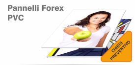 stampa pannelli forex, pannelli pvc